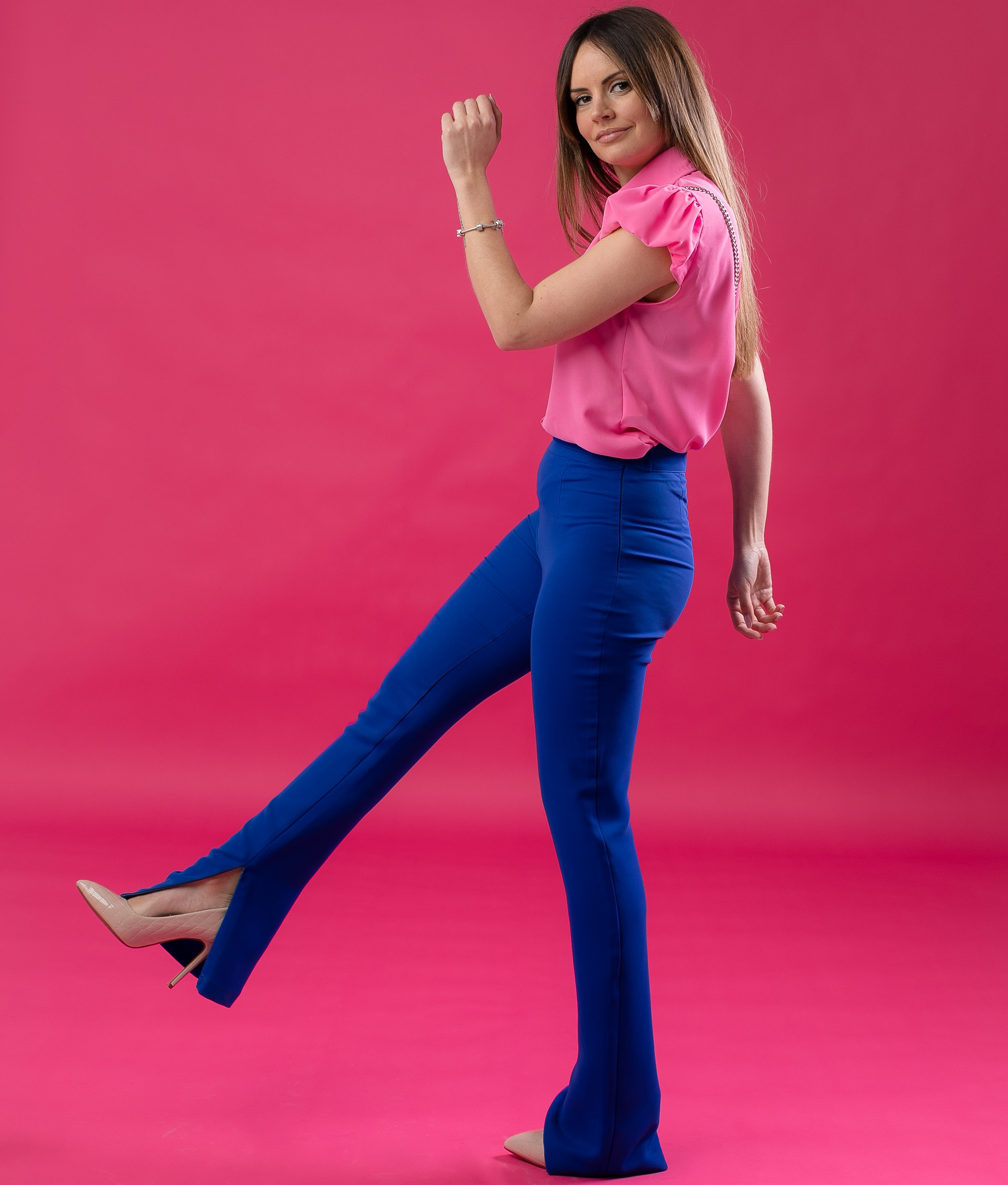 NAJARE TROUSERS - BLUE