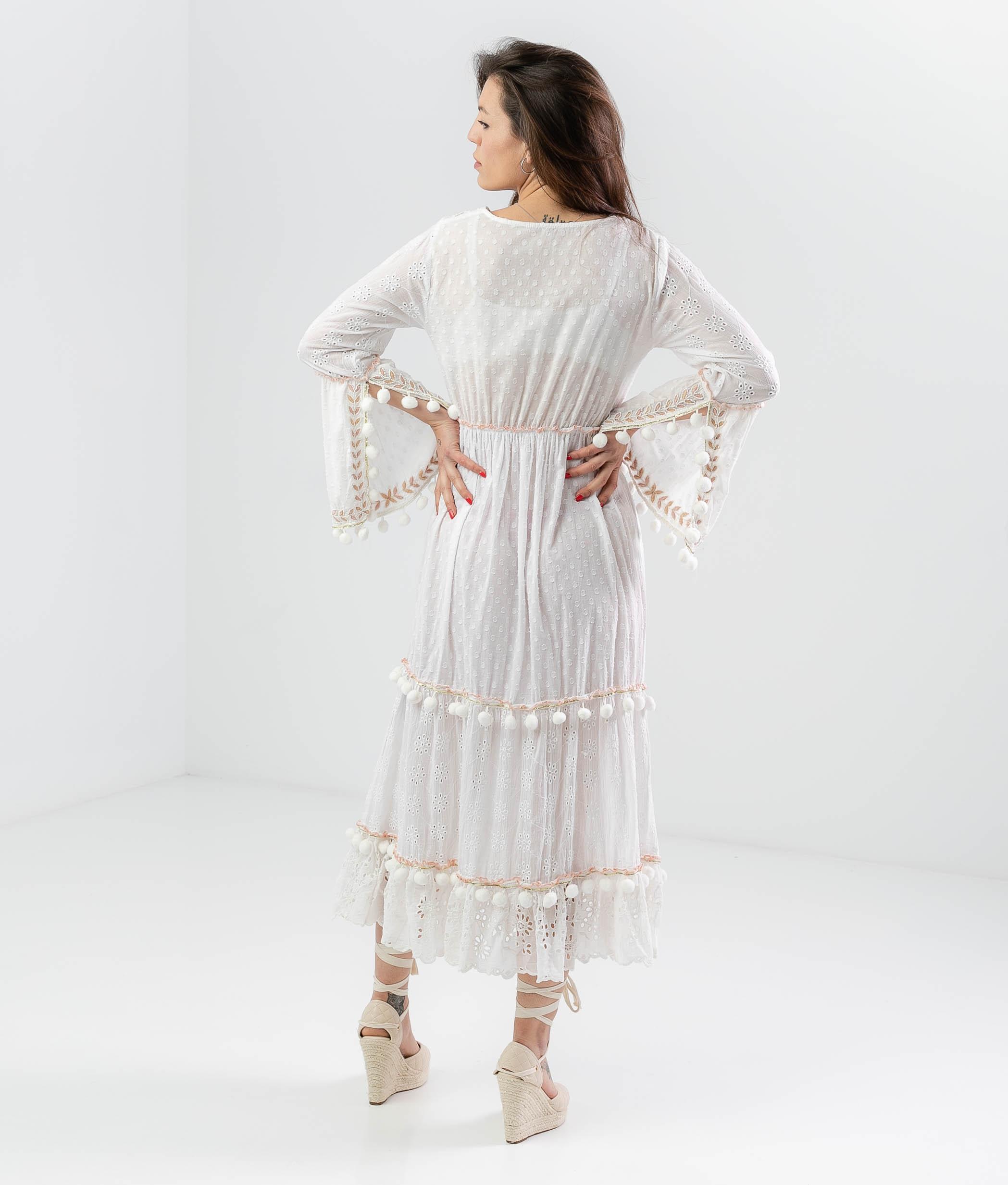BLUJU DRESS - WHITE