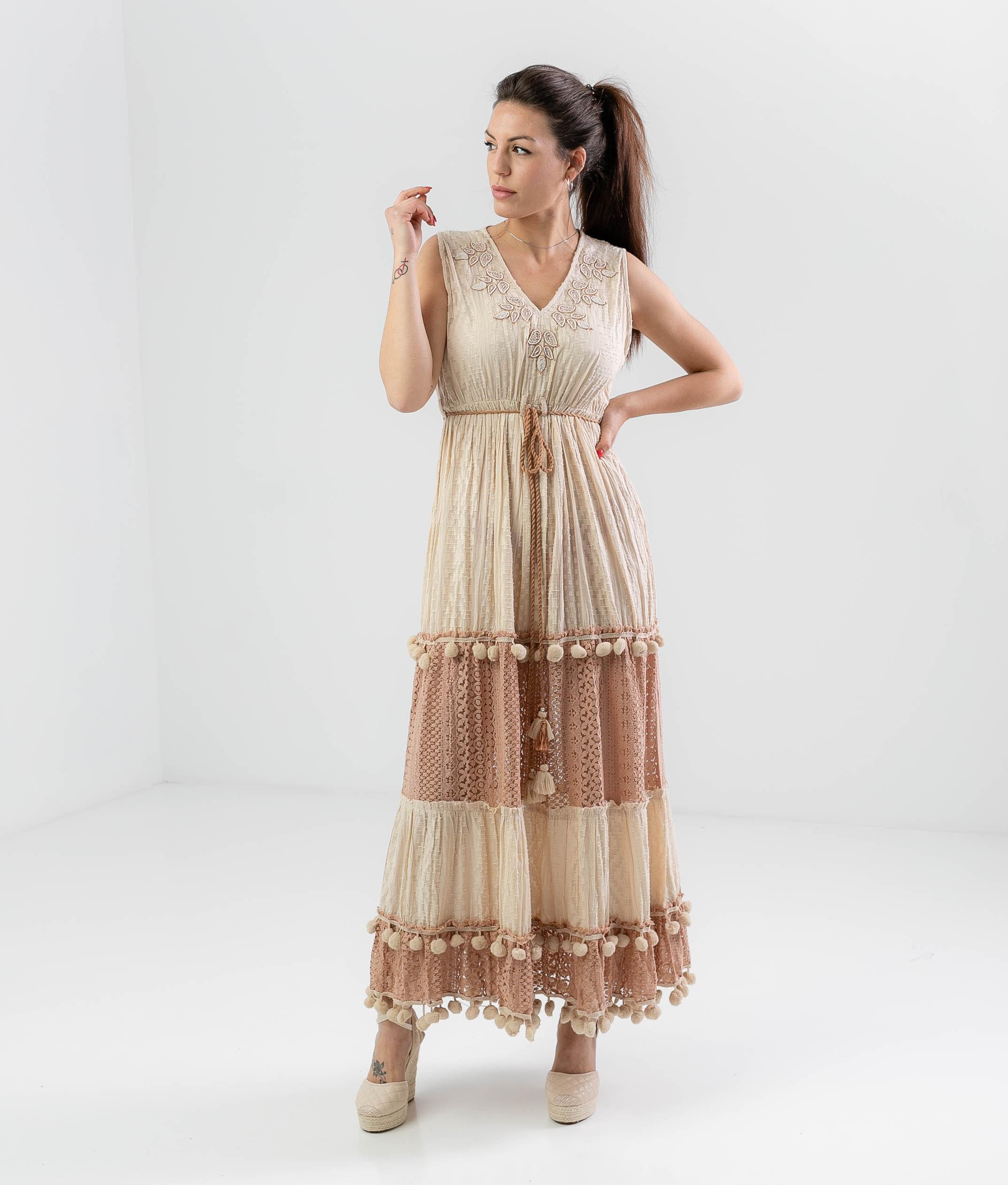 OCHILER DRESS - BEIGE