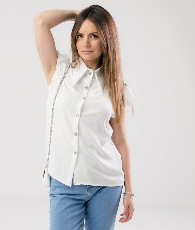 SHIRT BOLPER - WHITE
