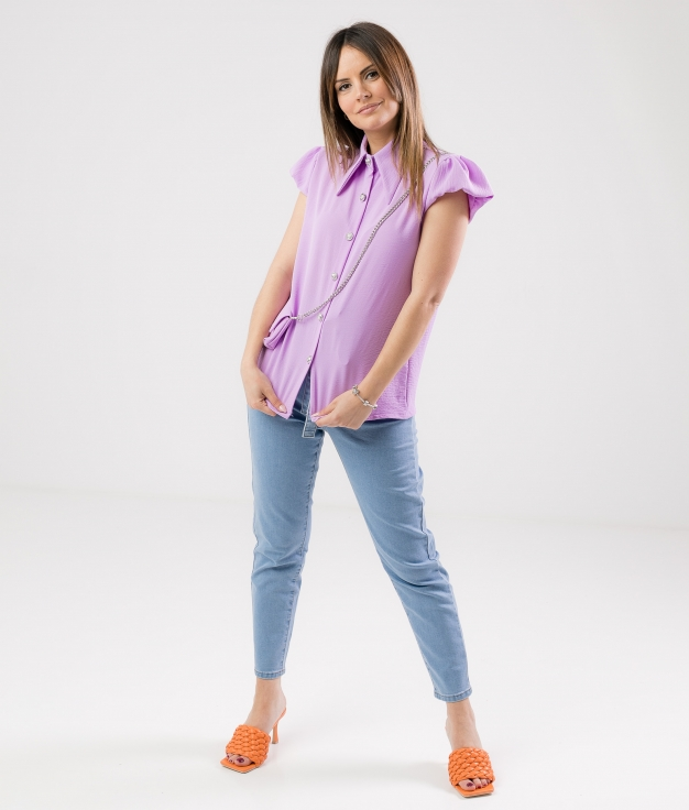 SHIRT BOLPER - PURPLE
