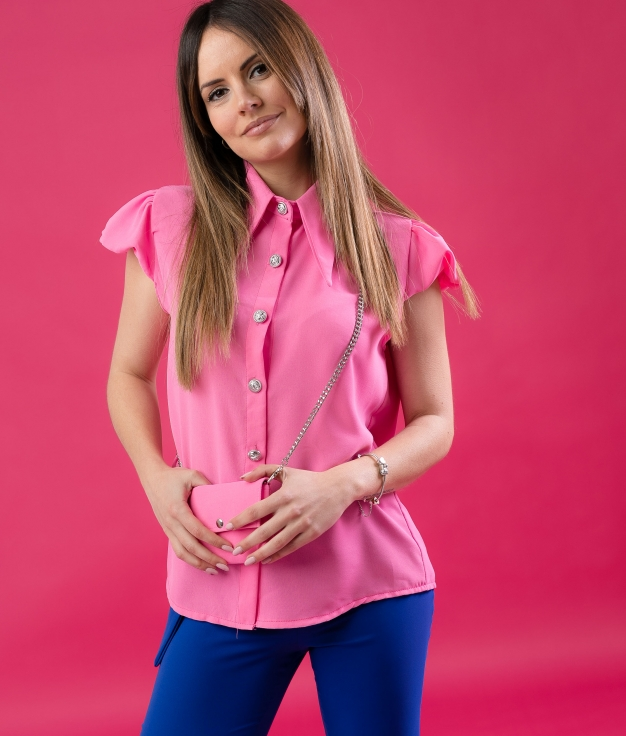 SHIRT BOLPER - FUCHSIA