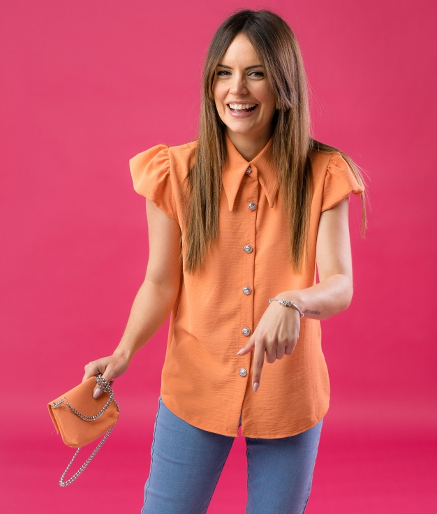 SHIRT BOLPER - ORANGE