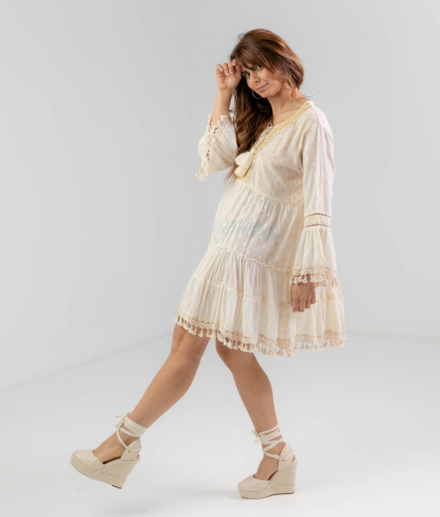 QUIRREL DRESS - BEIGE