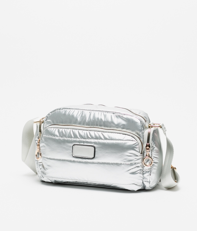 britany silver crossbody bag
