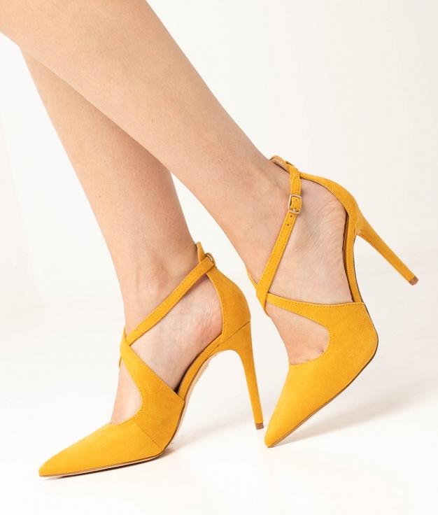 Sapato de Salto Lilian - Mostarda