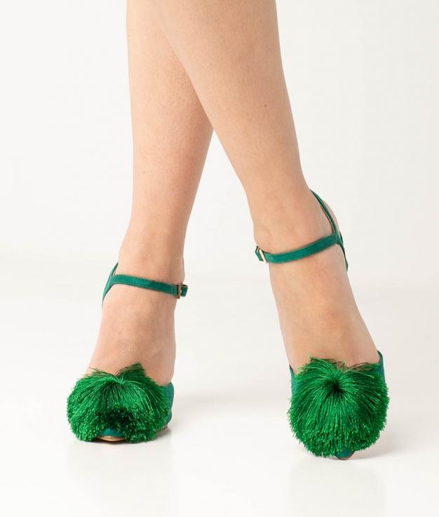Zapato de Tacón Cerdeña - Verde