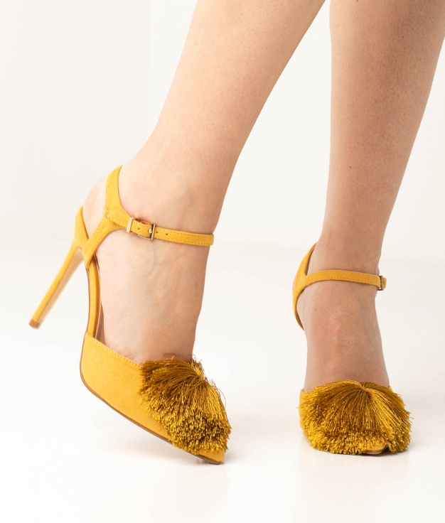 Sapato de Salto Cerdeña - Amarelo