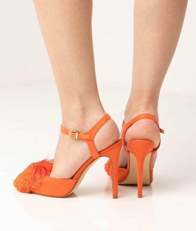 Sapato de Salto Cerdeña - Laranja