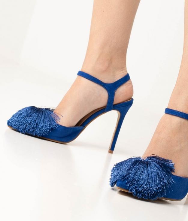 Sapato de Salto Cerdeña - Azul