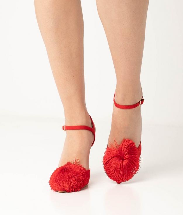 Sapato de Salto Cerdeña - Vermelho