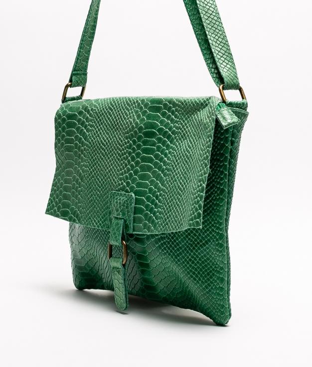 INIA LEATHER CROSSBODY BAG - GREEN