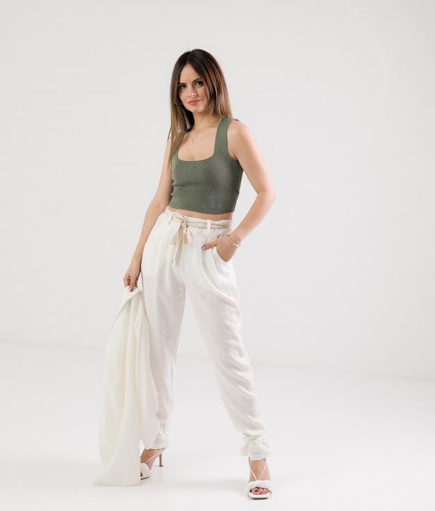 Trousers Selone - White