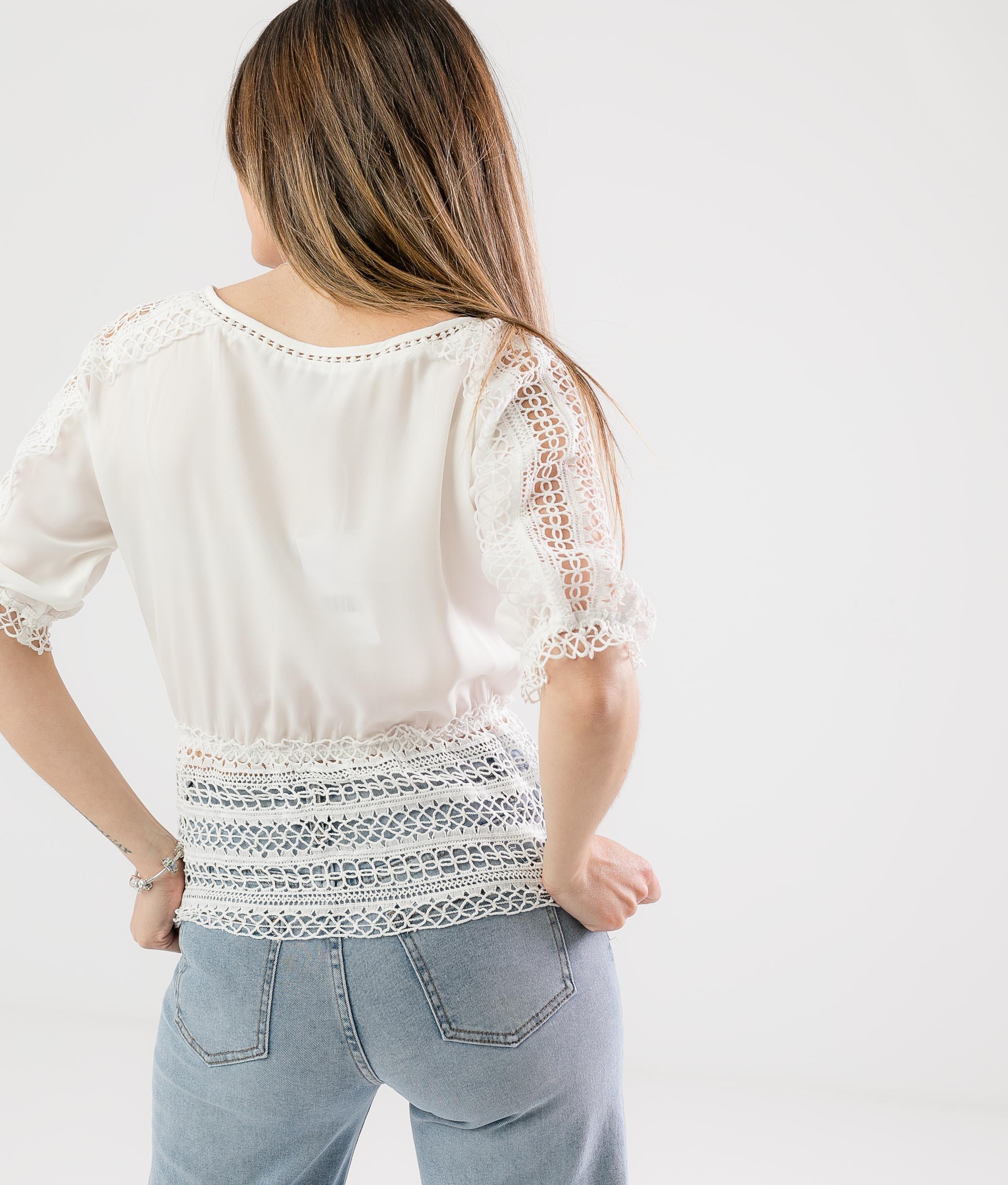 Blusa Rimbon - Blanco