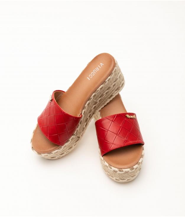 ATIRA WEDGE HEEL - RED