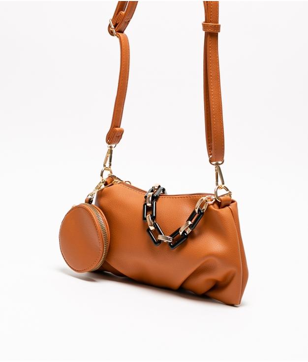 olay shoulder bag - brown