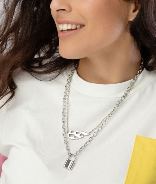 SEGABE NECKLACE - SILVER