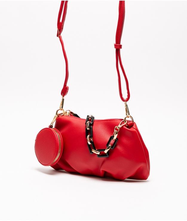 olay shoulder bag - red
