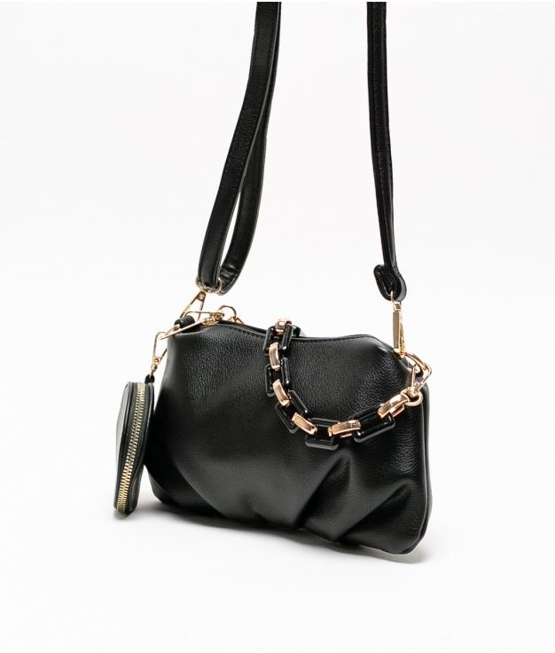 olay shoulder bag - black