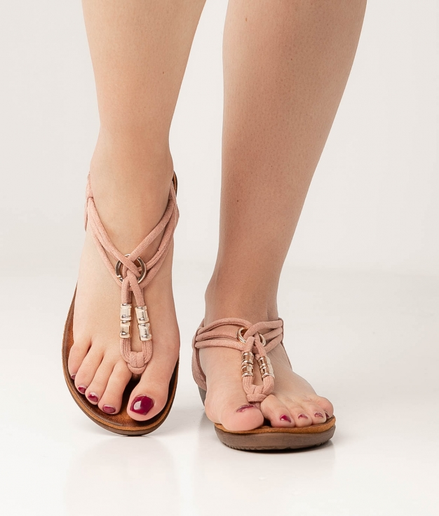LACEO SANDAL - NUDE