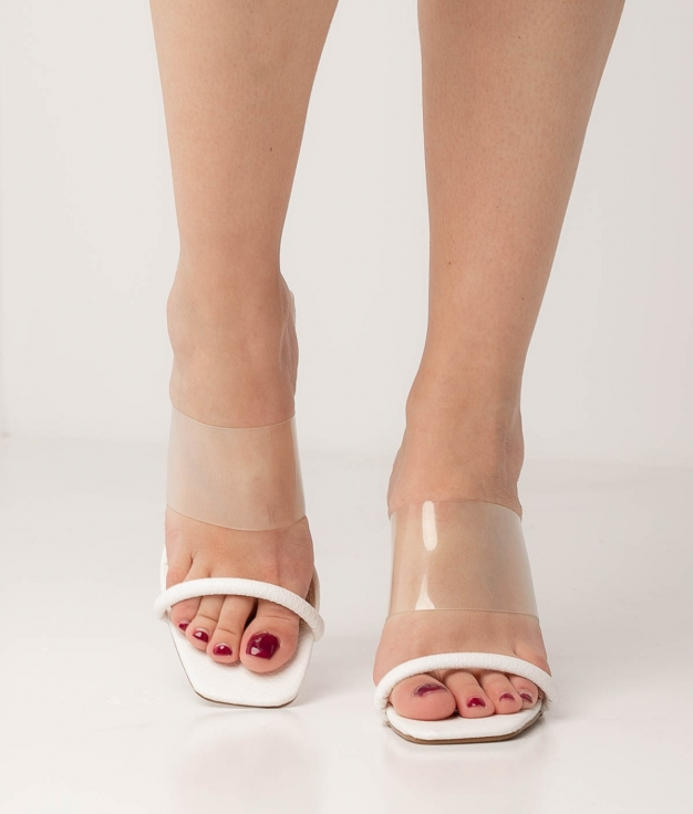High Sandal Kacen - White