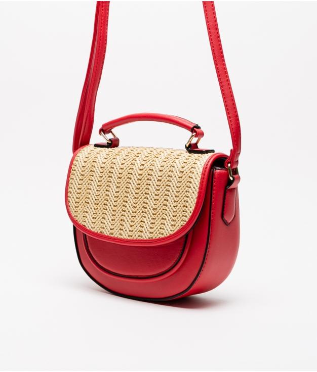 saco crossbody soley - vermelho