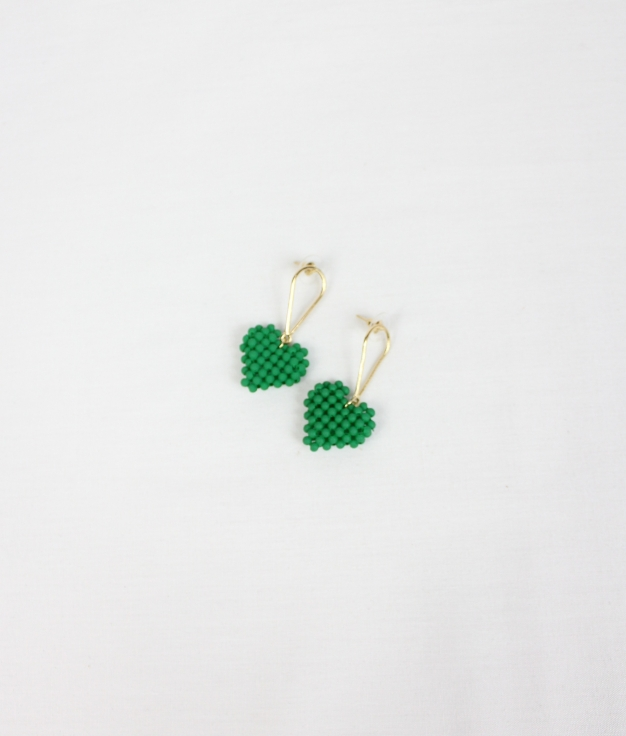 EARRING USHA - GREEN