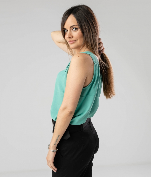 BLOUSE MOLIE - TURQUOISE
