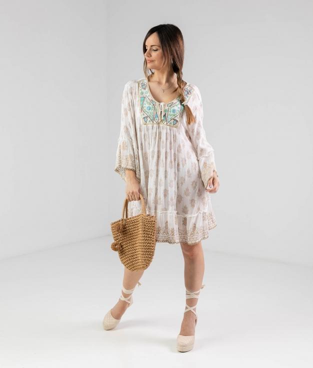 FONTER DRESS - WHITE