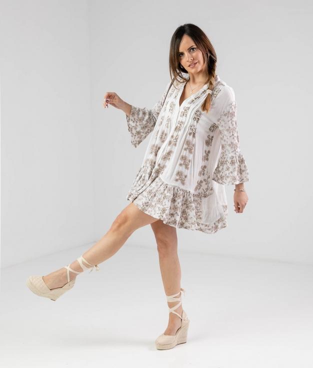 CRUNJO DRESS - WHITE