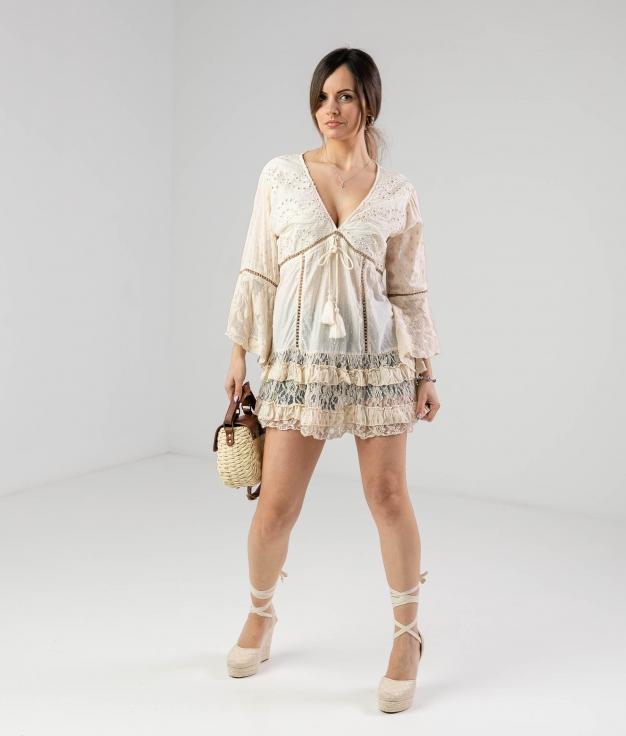 SENLLIR DRESS - WHITE