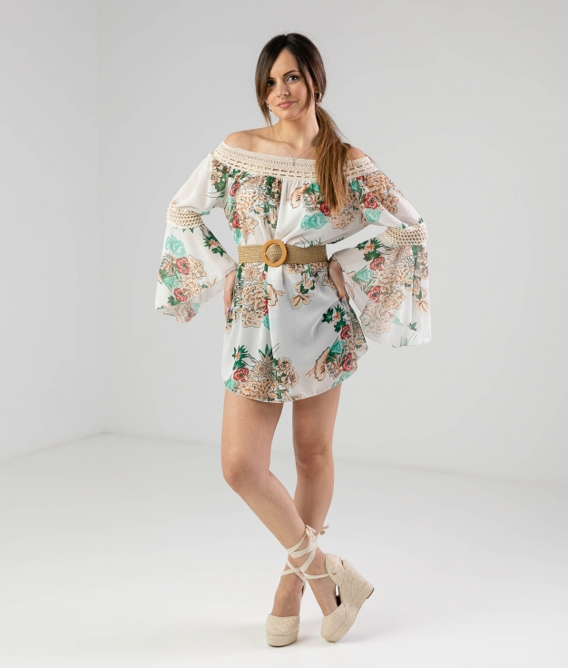 Vestido Ruste - Blanco