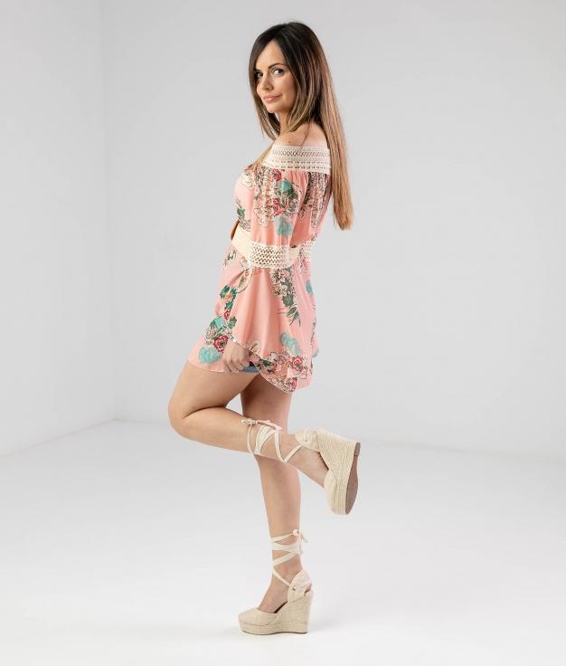 Vestido Ruste - Rosa