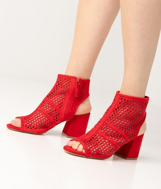Sandalia de Tacón Galati - Rojo