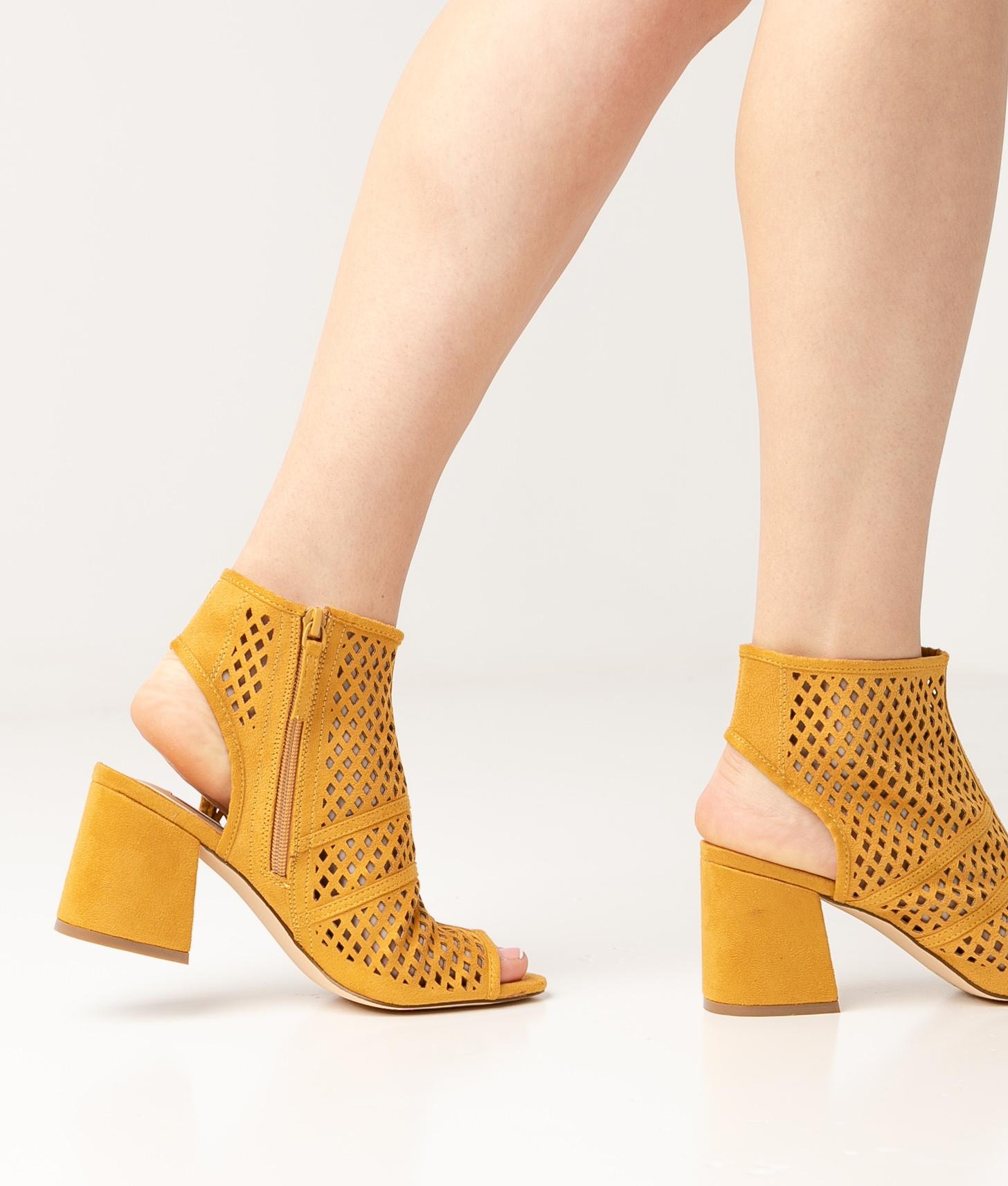 Sandália de Salto Galati - Amarelo