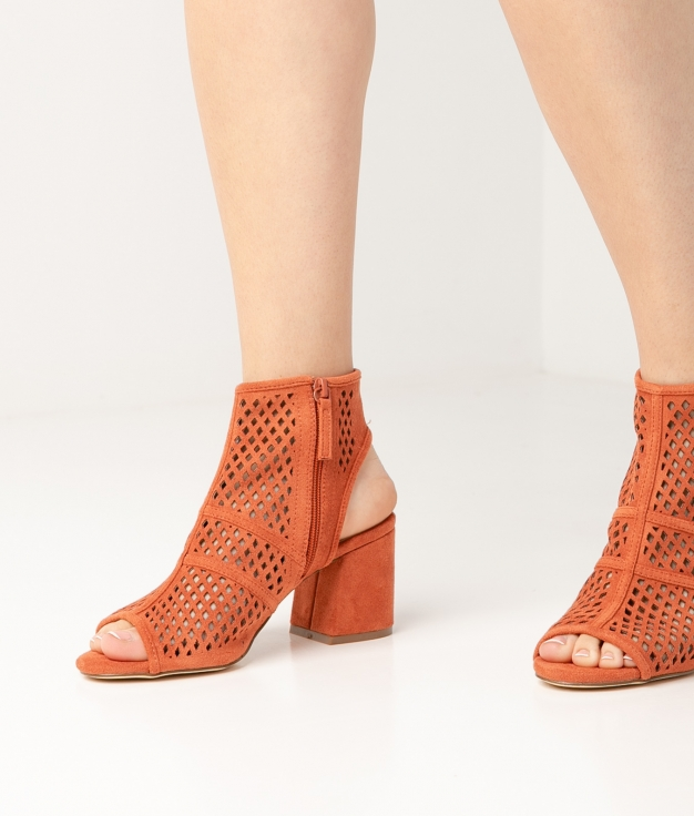 Sandalia de Tacón Galati - Naranja