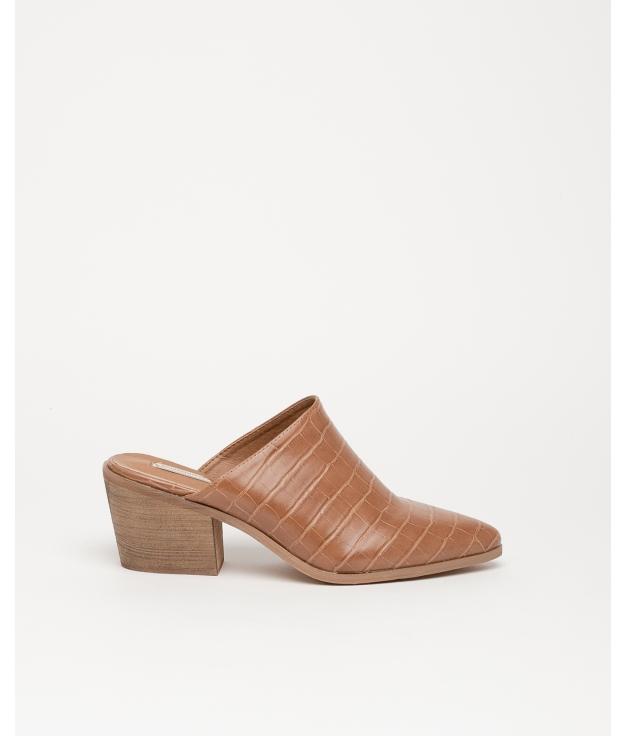 Sandalo con tacco alto Namur - Cammello