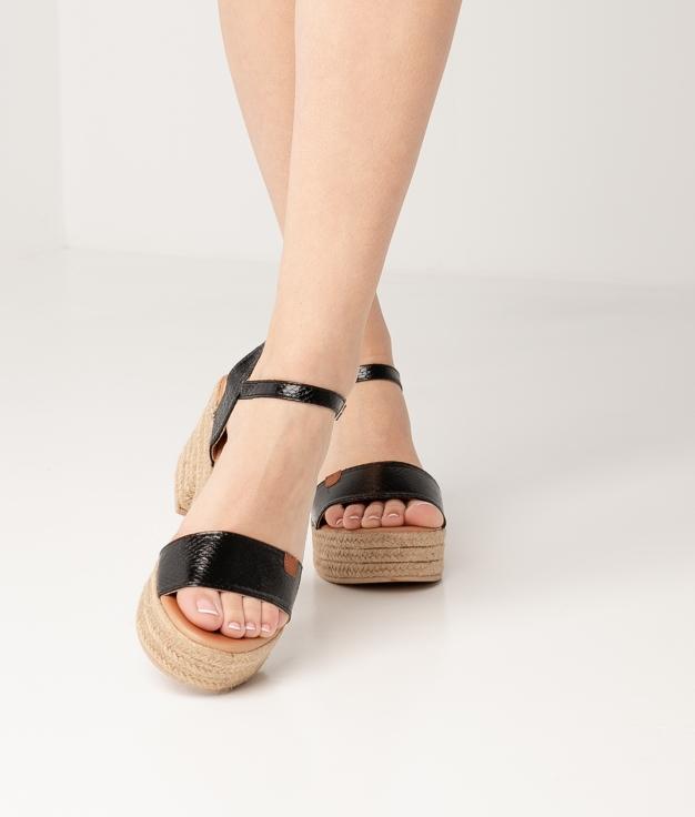 Sandália de Salto Gante - Preto
