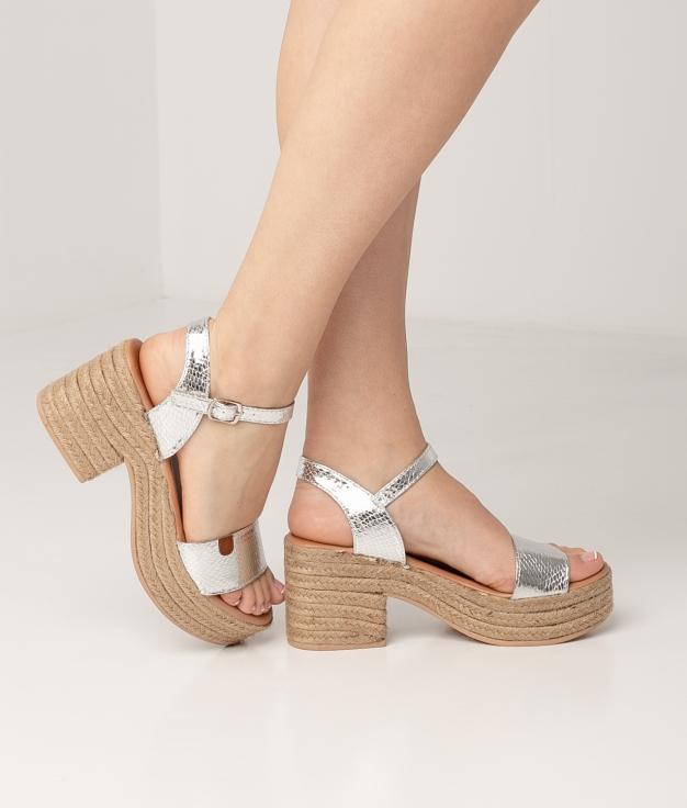 High Sandal Gante - Silver