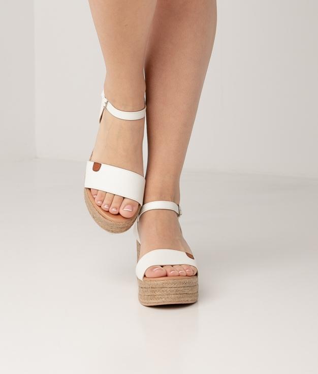 Sandália de Salto Gante - Branco