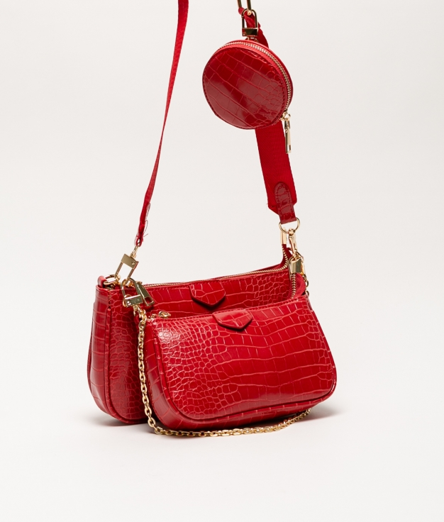 sac à bandoulière rouge shana