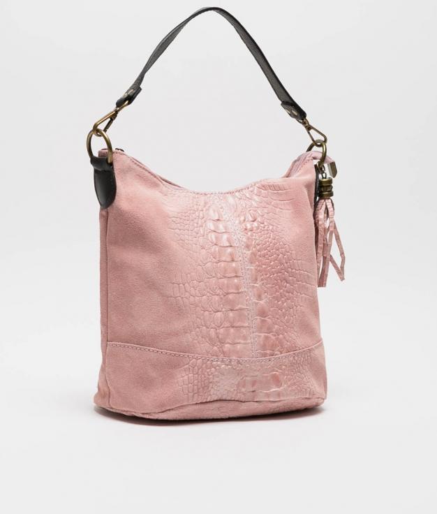 sac porte epaule en cuir Pace - rose