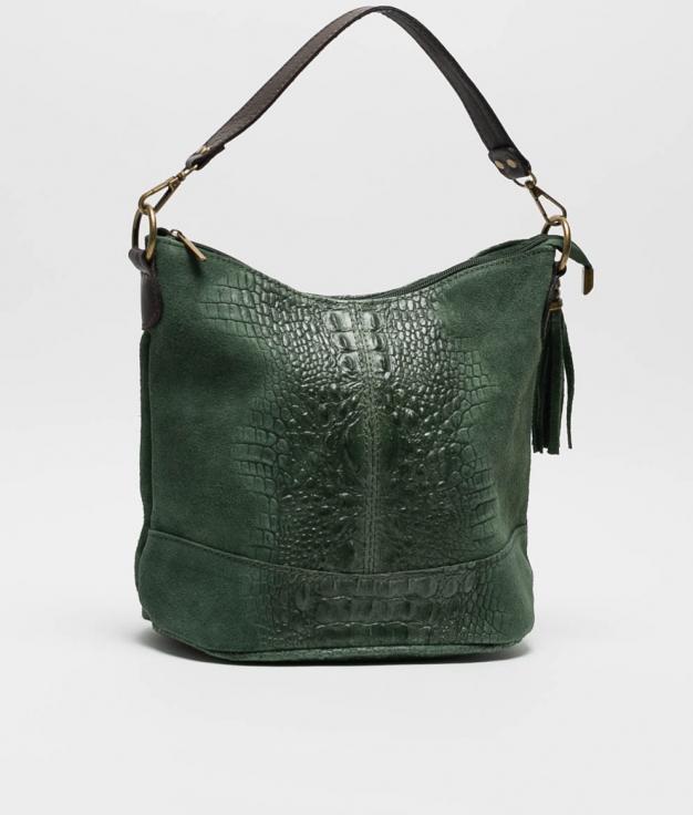 sac porte epaule en cuir Pace - vert