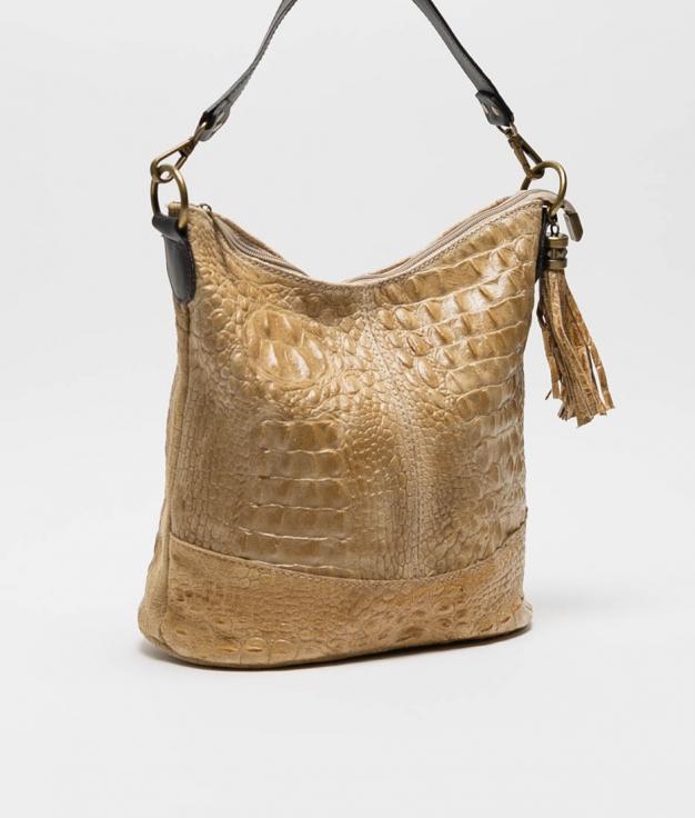 sac porte epaule en cuir Pace - camel