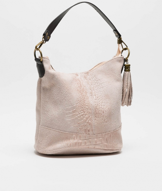 leather Shoulder bag Pace - nude
