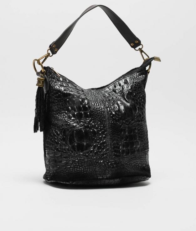 sac porte epaule en cuir Pace - noir