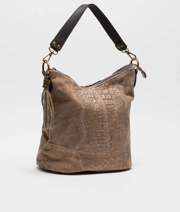 leather Shoulder bag Pace - taupe