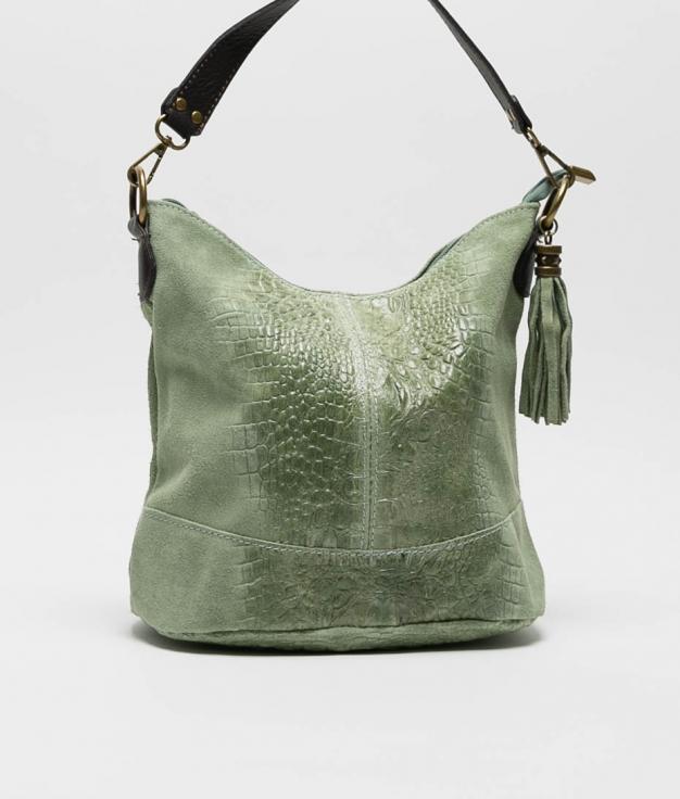 bolsa de ombro de couro Pace - manzana