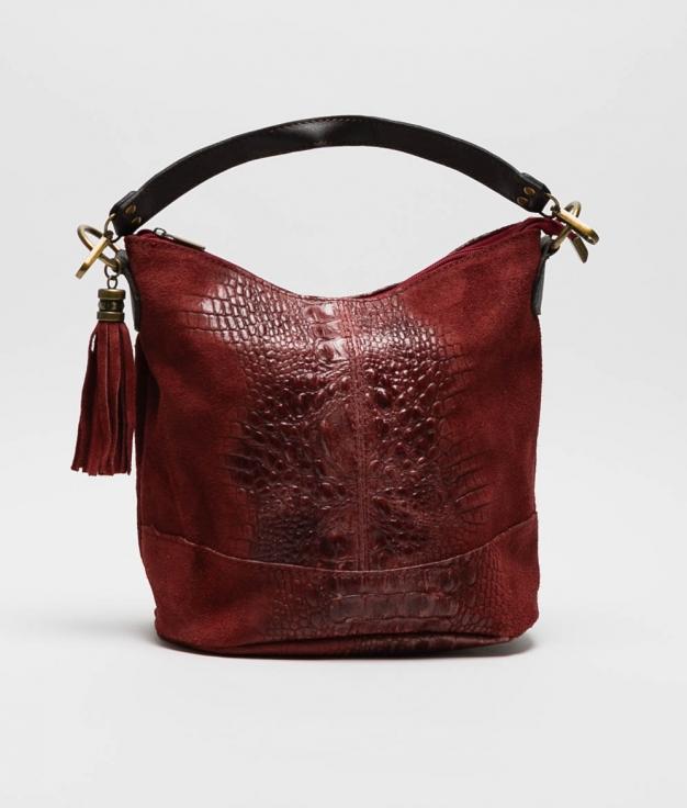 leather Shoulder bag Pace - vino