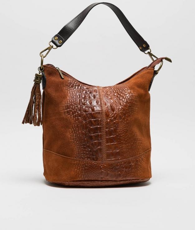 sac porte epaule en cuir Pace - marron